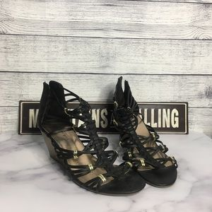 Madden Girl Black with Gold Accents Gladiator